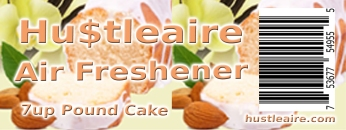 Hustleaire Air Freshener 7up pound cake
