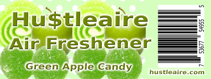 Hustleaire Air Freshener Green Apple Candy