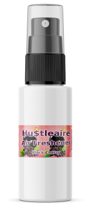 HUSTLEAIRE SPRAY BOTTLE 1 OZ BLACK CHERRY
