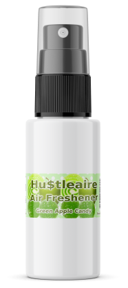 HUSTLEAIRE SPRAY BOTTLE 1 OZ GREEN APPLE