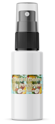 HUSTLEAIRE SPRAY BOTTLE 1 OZ PINA COLADA